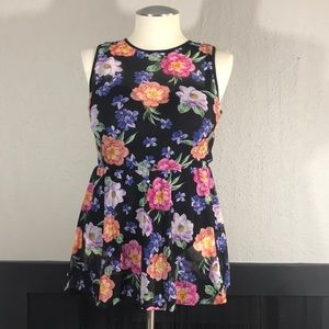 Torrid One Piece Floral Skirted Swimsuit size 1F